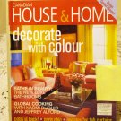Canadian House and Home April 2003 back issue magazine Decorate with color AL1666