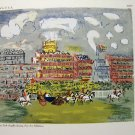 Raoul Dufy serigraphic print TRACK AT ASCOT  NY Graphic Society vintage signed in work AL1688
