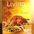 Martha Stewart Living magazine November 2009 Thanksgiving recipes and decor AL1842