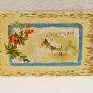 A Joyous Christmas embossed vintage postcard postmarked 1913 AL1527