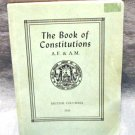 1953 The Book of Constitutions Antient Free Accepted Masons British Columbia AL1471