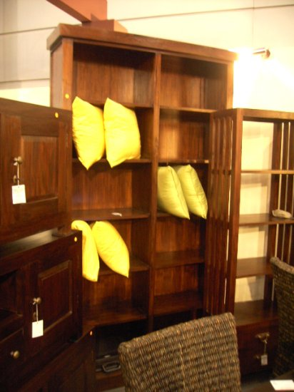 Bali Living Super Tall Book Shelves Open Display