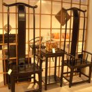 Imperial Living Emperor and Empress Chairs with side table bundle