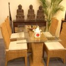 Bali Living Rattan Dining Set Royal Table with 4 chairs bundle set Sin$899