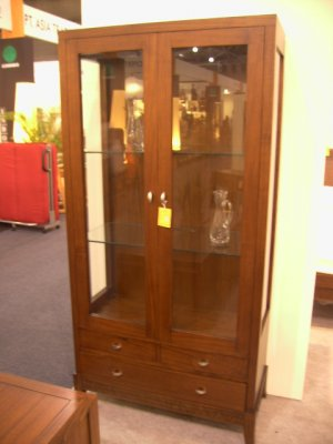 Bali Contemporary Glass Display with 4 drawers 3 shelves cam Sin$799