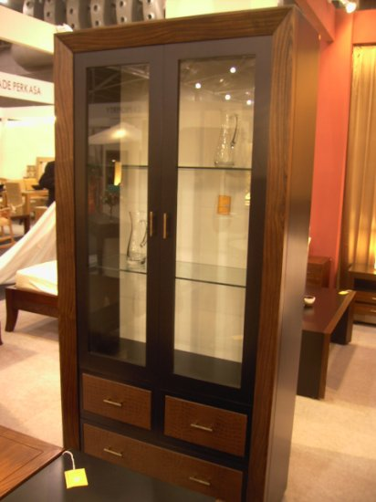 Bali Contemporary cabinet with 3 leather drawer cam Sin$799