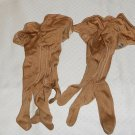 DRESS GLOVES  SMALL 1950'S OR 1960'S BRONZE/BROWN VTG NYLON