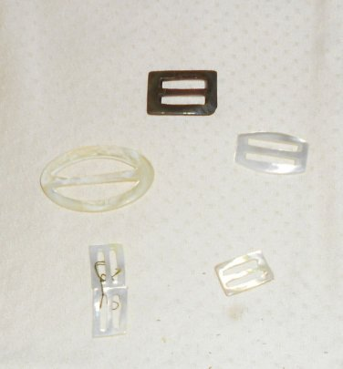 BELT BUCKLES VTG. ASSORTED,MOTHER OF PEARL I BELIEVE OVAL&  SQUARE 3 SMALL