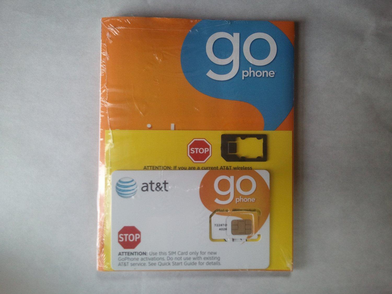 AT&T Go-Phone Prepaid Micro SIM Card for iPad Wi-Fi + 3G (TM) and iPhone 4