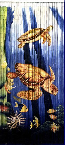 STPBFF-5254 Bamboo Curtain with Sea Turtles (96 strands)