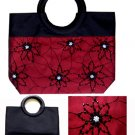 Classique Maroon Embroidered/Beaded Bag
