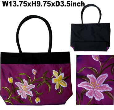 Classique Maroon Embroidered Bag