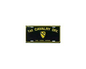 1st Cavalry Metal License Plate - NEW! $3 shipping