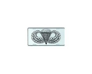 Airborne Wings Metal License Plate - NEW! $3 shipping