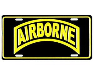 Airborne Metal License Plate - NEW! $3 shipping
