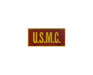 U.S.M.C. Metal License Plate - NEW! $3 shipping