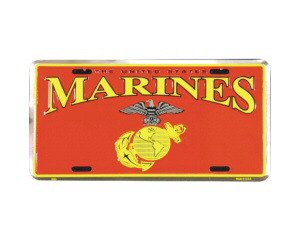Marines Metal License Plate - NEW! $3 shipping