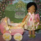 Lady With Baby And Carriage Felt Doll Pattern Pdf