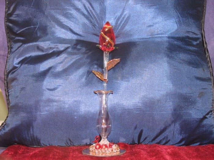 Sculptured Glass Rose