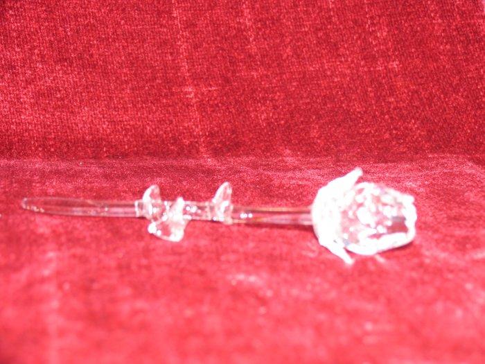 Single Glass Rose