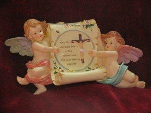 Cherub Angel Scroll