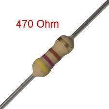 25 PCS 1/4W, 470 Ohm,  5% Carbon Film Resistors