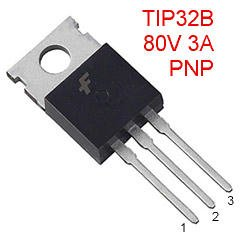 5 Silicon Power Transistors PNP 80V 3A TIP32B TO-220