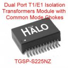 2PCS Dual Port T1/E1 Isolation Transformer with Chokes