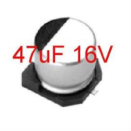 20PCS 47uF 16V 6.3mm SMD Electrolytic Capacitors