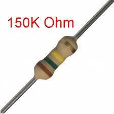 200 PCS 1/4W, 150K Ohm,  5% Carbon Film Resistors