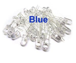 20 LEDs, Blue, High Output, 5mm T-1 3/4