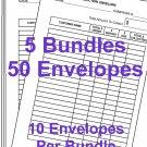 50 Avon Money Collection Envelopes
