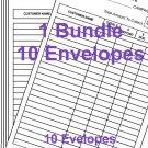 Bundle of 10 Avon Money Collection Envelopes