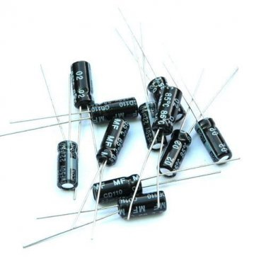 2PCS 1uF 50V Radial Electrolytic Capacitors