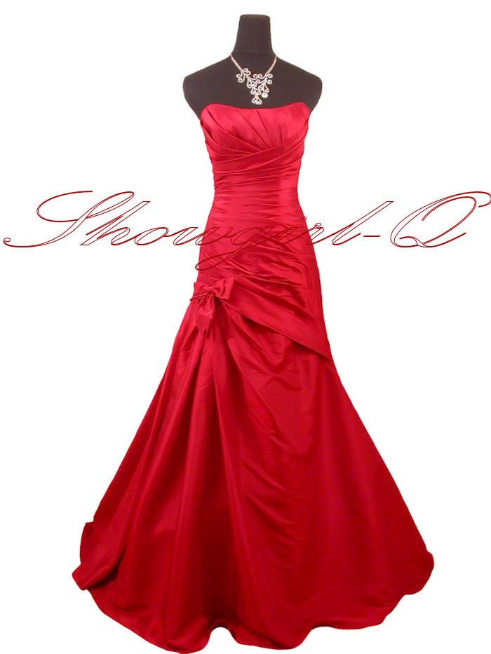 5242 RED PROM DRESSES EVENING GOWN BALL GOWN BRIDESMAID