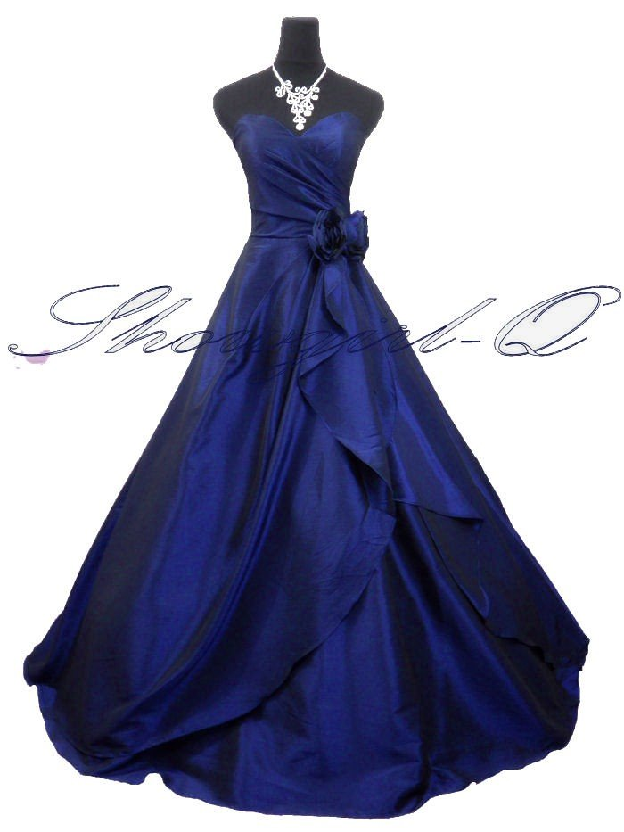 3506BLUE Evening Dress Prom Ball Gown 8 - 20