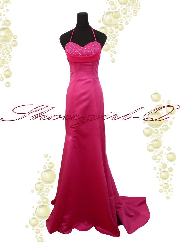 3498 EVENING PROM DRESS BALL GOWN  HOT PINK BRIDESMAID