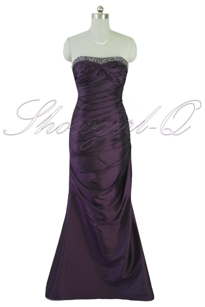 5269 PURPLE EVENING DRESS PROM BALL GOWN BRIDESMAID