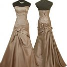 5242 Cappuccino sweetheart neckline strapless evening prom dress UK 8 -20
