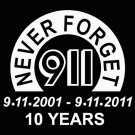 911 Never Forget Commemorative Decal Sticker White Vinyl