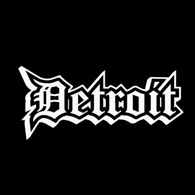 Old English D Detroit City White Vinyl Decal Sticker