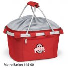 Ohio State Embroidered Metro Basket Picnic Basket Red