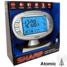 SHARP® ATOMIC DUAL ALARM CLOCK