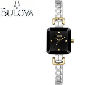 BULOVA® CARAVELLE LADIES BLACK GEM CUT WATCH