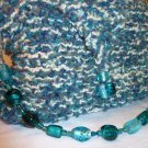 Knitted Beaded Handle Purse