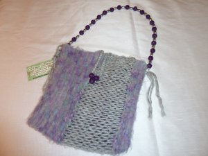Purple & Gray Tote Bag/Purse