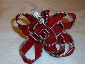 Red Zipper Flower