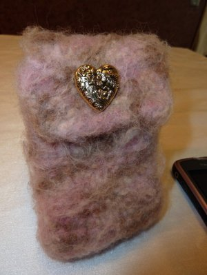 Felted Smart Phone Pouch
