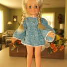 Crissy Velvet Fashions Doll With Growing Hair VGUC Tote +  Doll Clothes Fair to Good Cond. 1971
