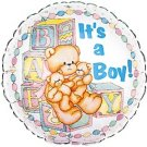 18 Inch Mylar Its a Boy Teddy Bear Balloon